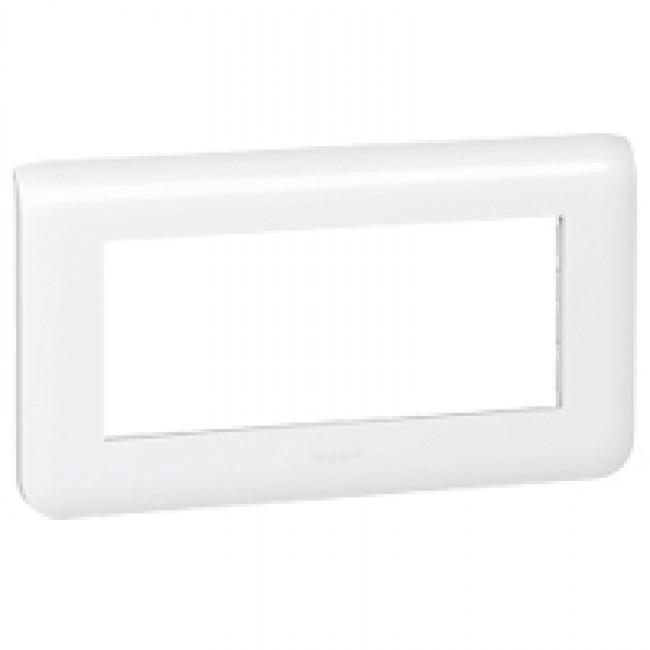 Plaque de finition horizontale Mosaic blanche - 5 modules LEGRAND