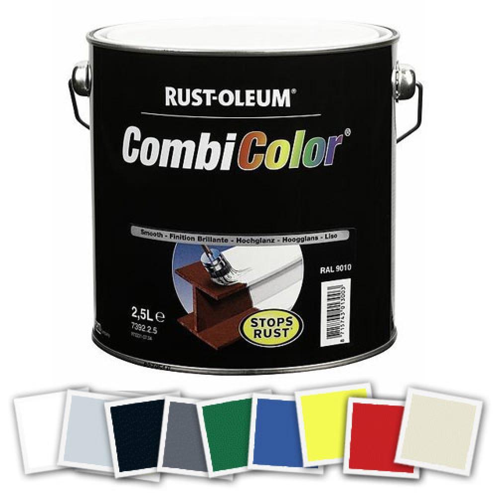 Peinture antirouille m tal brillant combicolor rust oleum bricozor - Peinture antirouille blanche ...