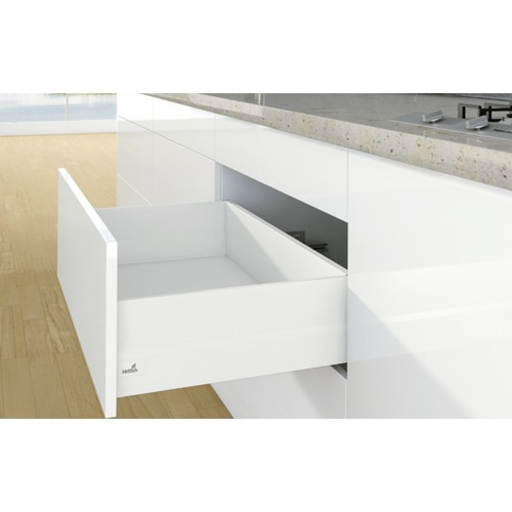 kit tiroir topside arcitech profil h94 dos h186 mm blanc hettich bricozor. Black Bedroom Furniture Sets. Home Design Ideas
