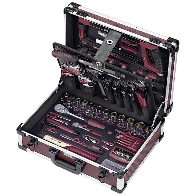 Coffret outil professionnels en aluminium - 263 pièces KRAFTWERK