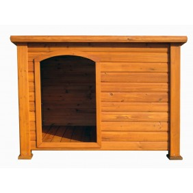 Niche à chien en bois toit plat HABRITA