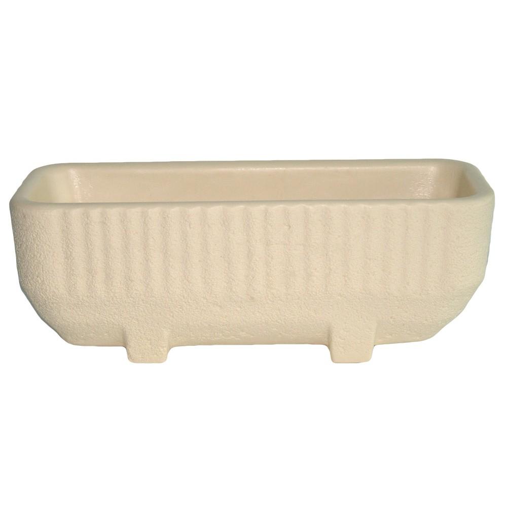 bac rectangulaire avec r serve d 39 eau beige 28 litres sequoia 13785 eda plastiques bricozor. Black Bedroom Furniture Sets. Home Design Ideas