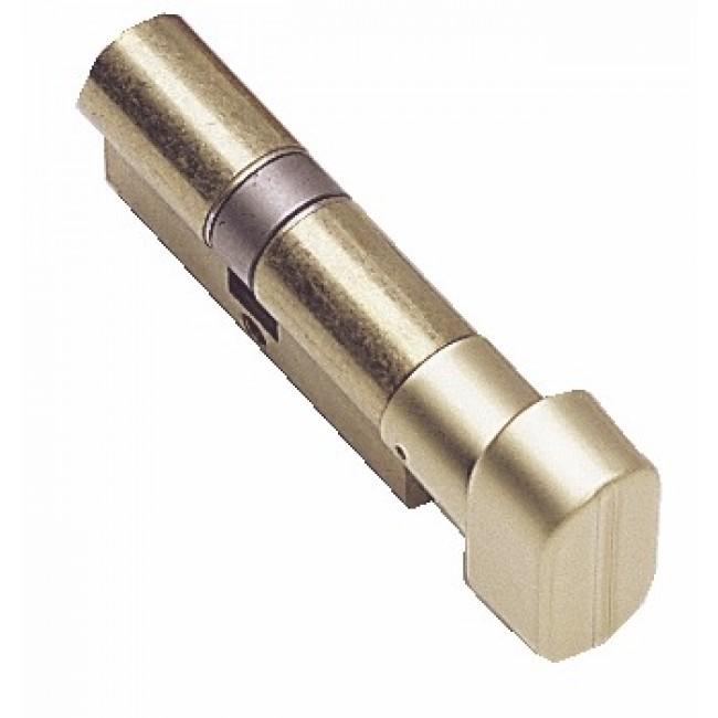 Cylindre à bouton TE-5 sur passe général - laiton nickelé TESA Sécurité