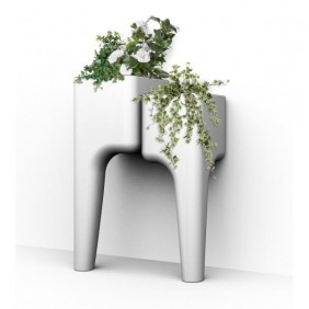 Jardinière en polypropylène avec 2 bacs - Kiga S HURBZ