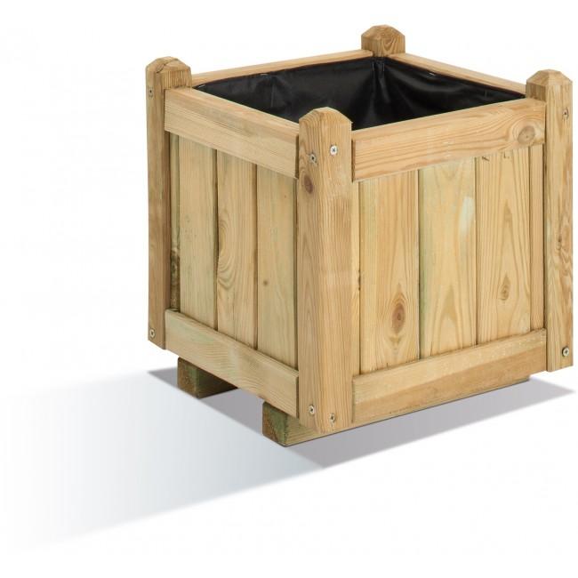 Bac à fleurs en bois carré - 23 litres - 36 x 36 cm - Vendôme 40 JARDIPOLYS
