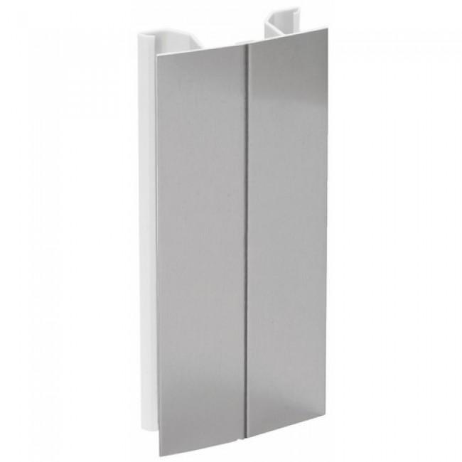Angle plinthe PVC/aluminium EMUCA