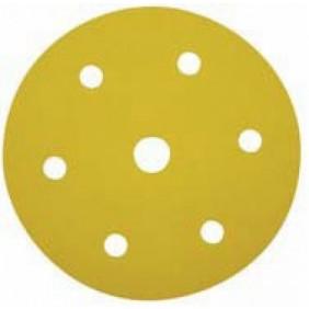 Lot 5 disques velcro/papier pour ponceuse 225 mm-7 trous LEMAN