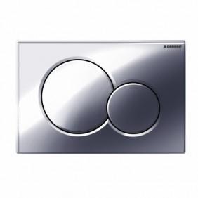Plaque de commande double touche - Sigma 01 - chromé brillant GEBERIT