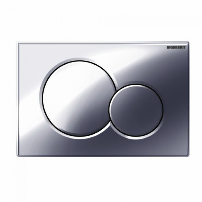 Plaque de commande double touche - Sigma 01 - chromé brillant GEBERIT