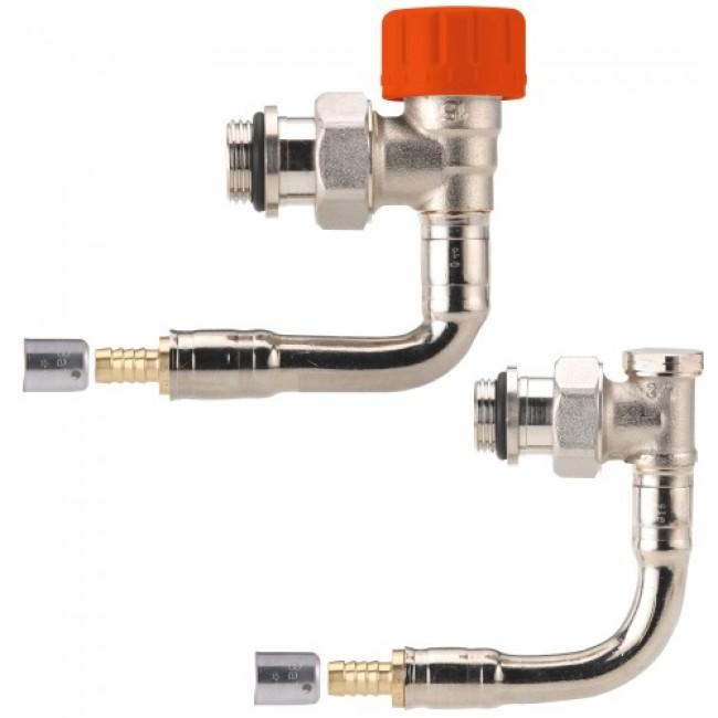 Kit de robinetterie thermostatique bitube M30 - équerre à sertir COMAP