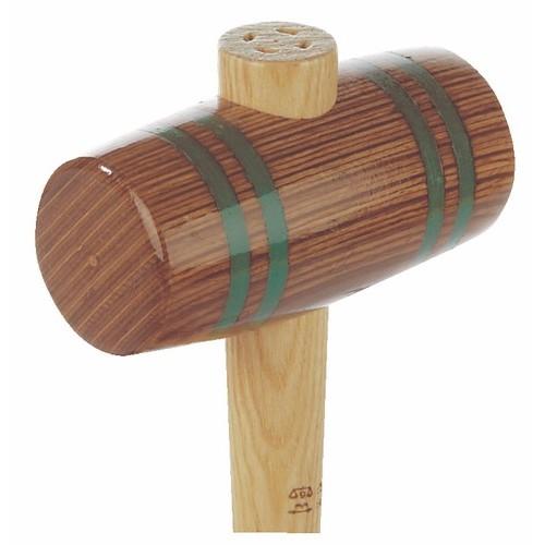 Maillet tonneau en bois comprimé lamellé, manche hickory