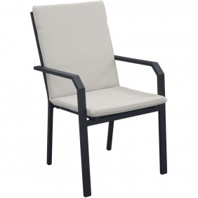 Lot de 2 fauteuils de jardin en aluminium - Argana INDOOR OUTDOOR