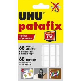 Patafix blanc - 68 pastilles adhésives réutilisables Uhu