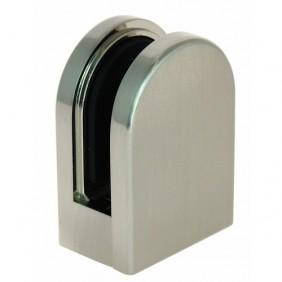 Pinces pour verre de 6 à 10 mm - zamac aspect inox - ronds 63 x 45 mm IGS