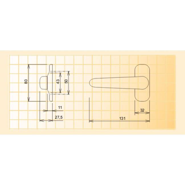 Poign e de fen tre ultra plate sur platine mod le diane for Poignee fenetre extra plate