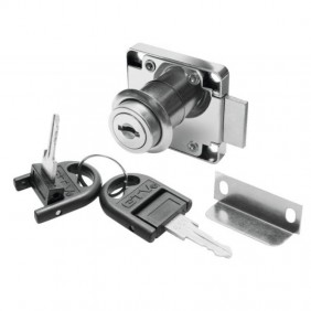 Kit de serrure de meuble monopoint Z138 - clés pliables GTV