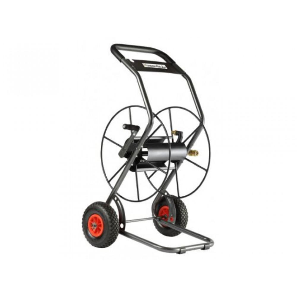 Chariot d vidoir m tallique 2 roues luxe 85m de tuyau for Chariot de jardin 2 roues