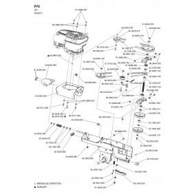 Pièces détachées pour cellule motrice P70 - éclaté n°2 EUROSYSTEMS