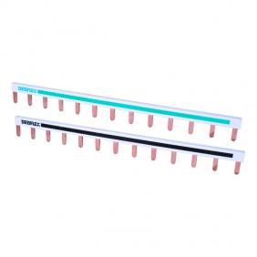 Peigne de raccordement réversible 10mm² - 225mm - bleu et noir DEBFLEX