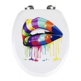Abattant WC - MDF - Bouche multicolore WENKO