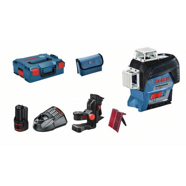 Niveau laser GLL 3-80C faisceau rouge + Support BM1 - 0601063R02 BOSCH