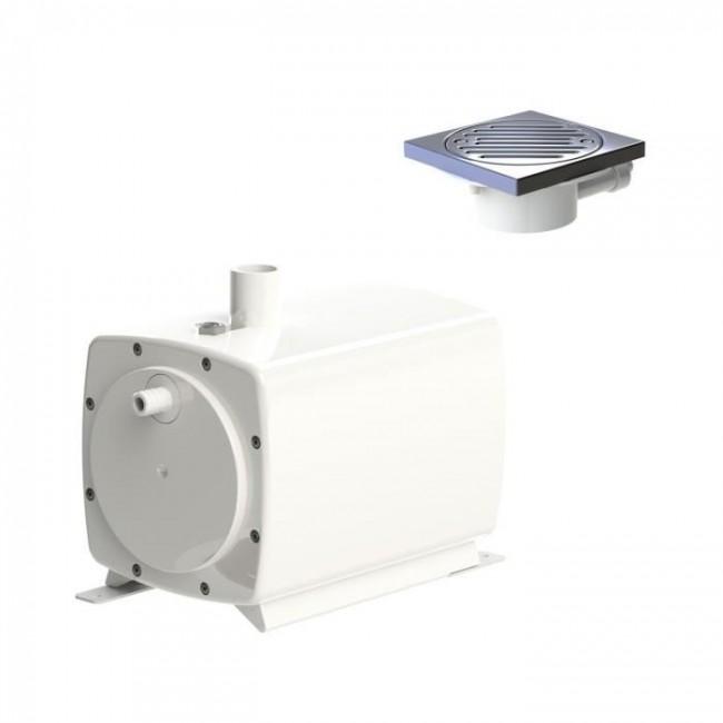 Pompe de relevage pour douche à l'italienne - Sanifloor 1 + siphon SFA