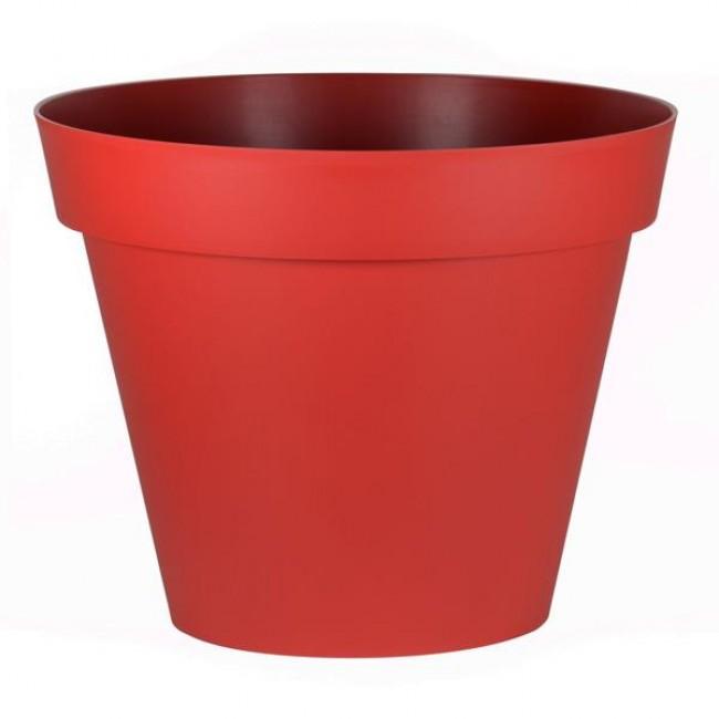 Pot rond rubis - diamètre 80 cm - 170 litres - Toscane 13623 EDA PLASTIQUES