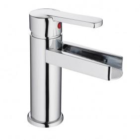 Mitigeur monocommande - lavabo- cascade et chromé - Niagara SCHÜTTE