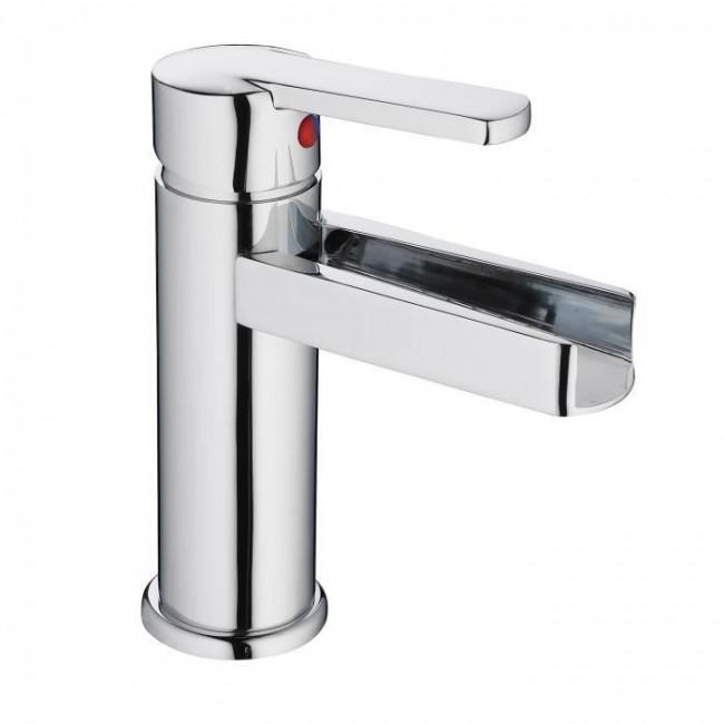 Mitigeur monocommande - lavabo - cascade et chromé - Niagara SCHÜTTE