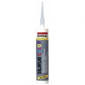 Mastic menuiserie silicone neutre - Silirub Color SOUDAL