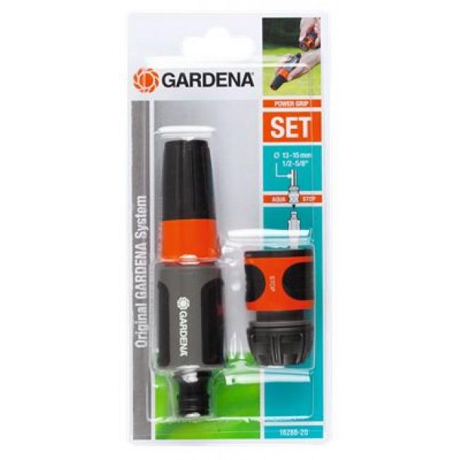 Nécessaire d'arrosage pour tuyau 15 mm – raccord et lance – 18288-20 GARDENA