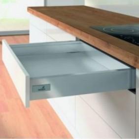 Kit tiroir simple monté InnoTech Atira-H70mm-Push to Open 30kg HETTICH