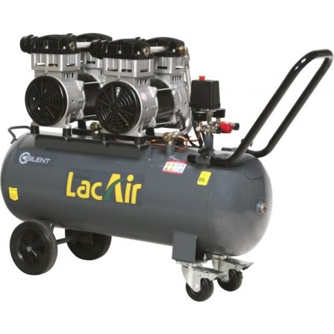 Compresseur d'air - 70 litres - 2 moteurs - Silent Twin 24/70 SH Lacmé