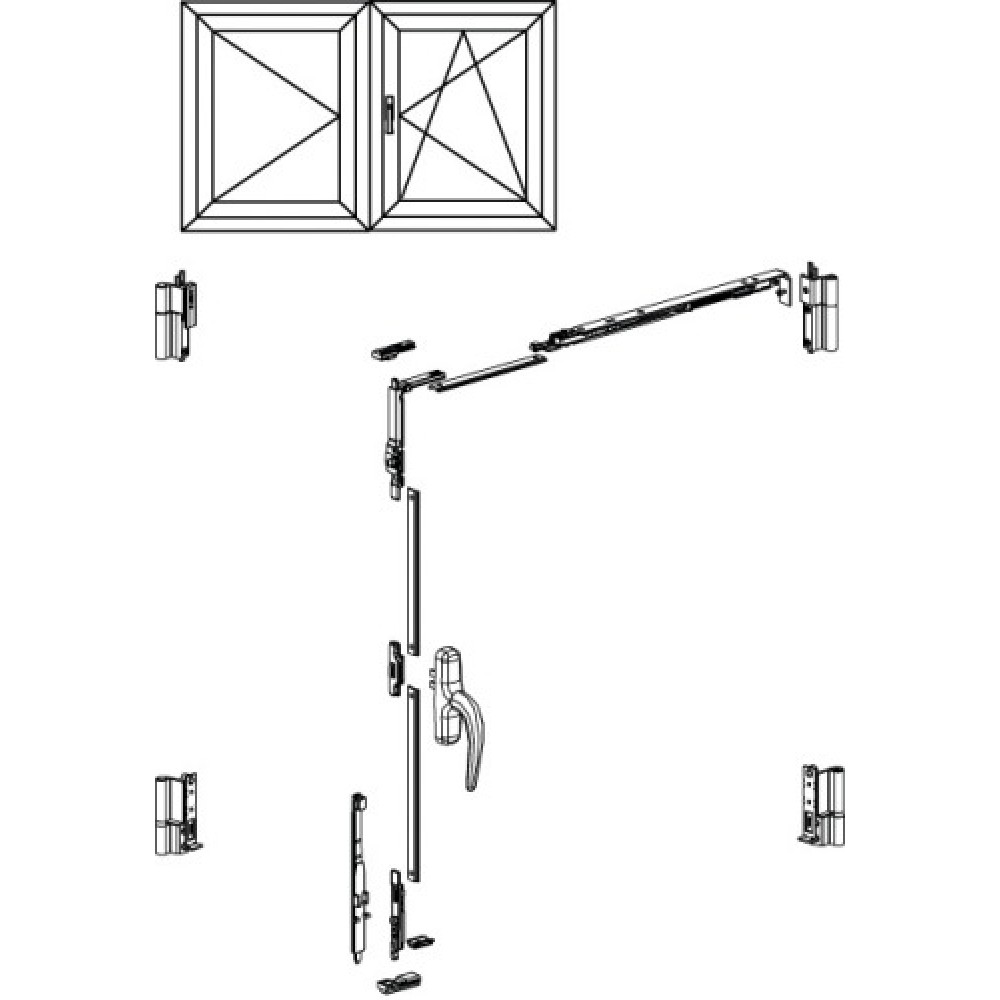 Kit De Base 1 Ou 2 Vantaux Oscillo Battant Fenetre Aluminium Fapim Bricozor