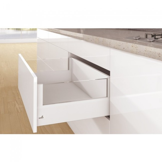 Kit tiroir DesignSide ArciTech-profil H126-dos H250-blanc HETTICH