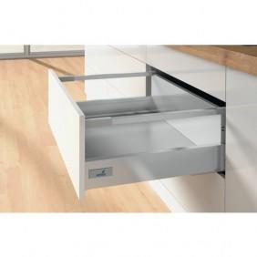 Kit tiroir tringles InnoTech Atira-H176 mm-sans coulisses-argent HETTICH