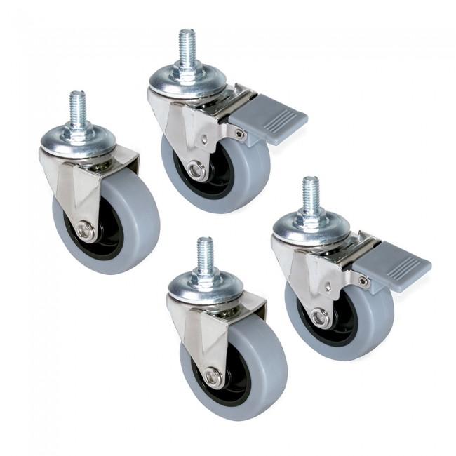Roulettes en diamètre 50 mm - kit de 4 - Slip 2 EMUCA