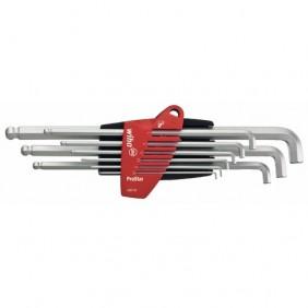 Jeu 9 clés allen 1.5 à 10 mm - tête courte SB 369T S9 WIHA