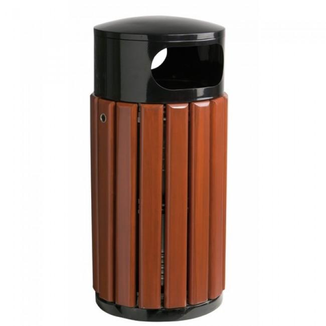 Corbeille extérieure - bois verni et métal - 40 litres - ZENO ROSSIGNOL