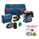 Niveau laser GLL 3-80C faisceau vert + Support BM1 - 0601063T00 BOSCH