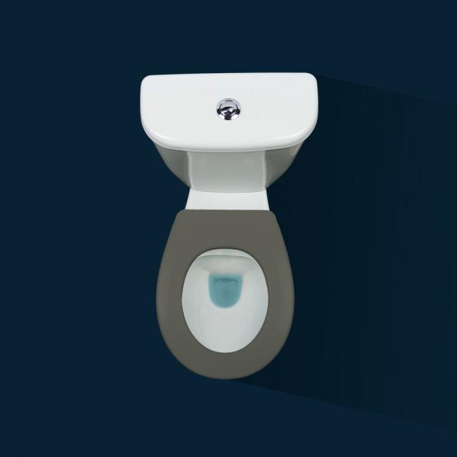 Lunette wc clipsable - 100 % hygiénique - gris PAPADO