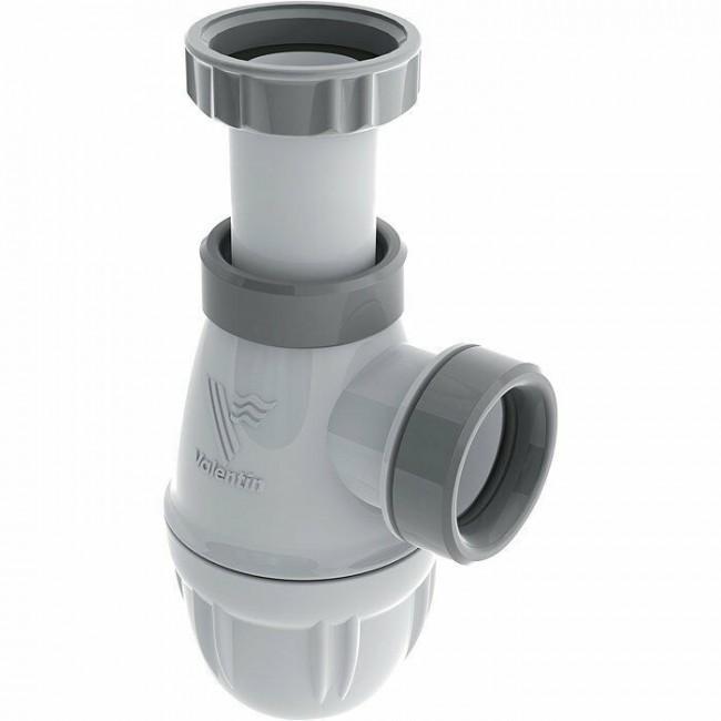 Siphon de lavabo - bi matière - avec joints surmoulés VALENTIN
