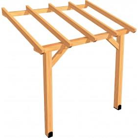 Carport en bois - à adosser -  Protek ABS2015 JARDIPOLYS
