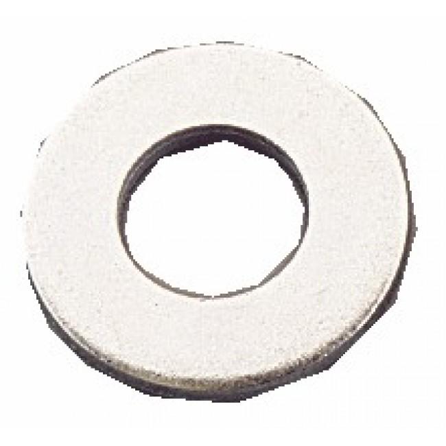 Rondelles plates Mu - acier zingué blanc BRICOZOR