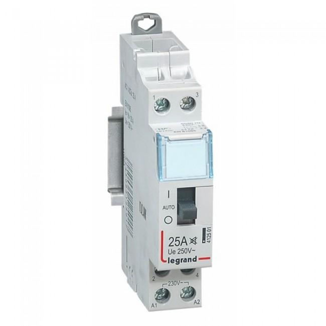 Contacteur bipolaire silencieux -  25A - 230 V - tarif heures creuses LEGRAND