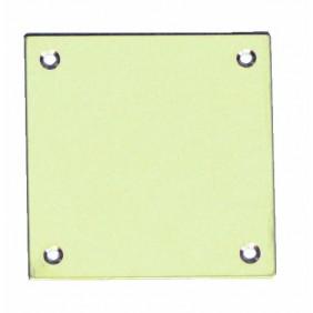 Plaque de propreté laiton poli, 50x50mm COUILLET