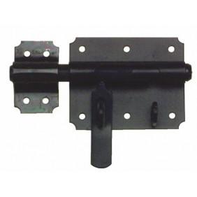 Verrou de box porte-cadenas - acier noir - platine 90x72mm - Pêne 14mm BRICOZOR