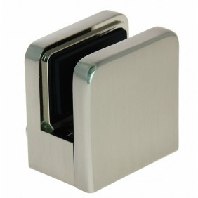 Pinces pour verre de 6 à 10 mm - zamac aspect inox - carré 45 x 45 mm IGS