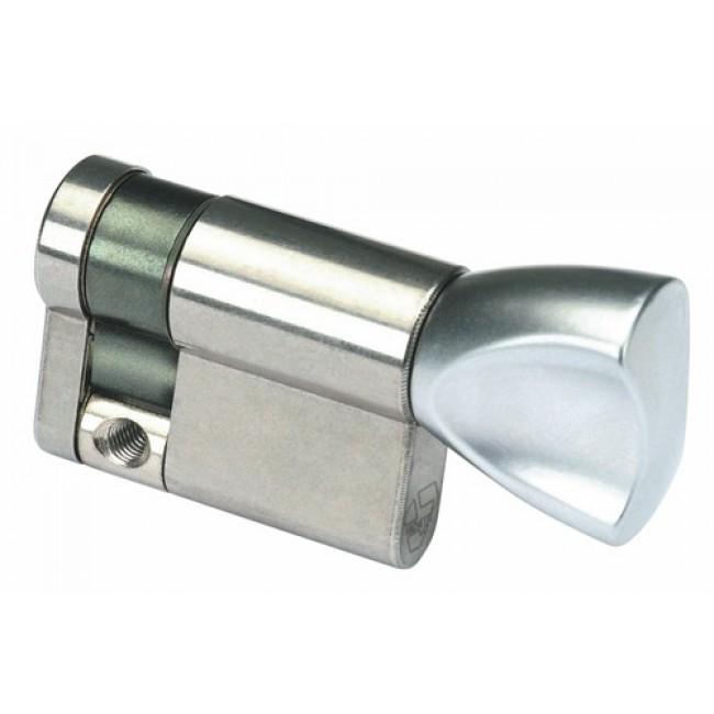 Cylindre à bouton varié - B30 x 10 mm - laiton nickelé -V5 5111 VACHETTE