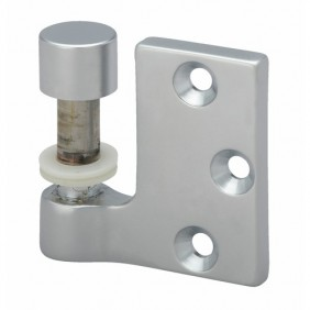Paire de fiches à entailler pour porte en verre - chromé velours - 8914 MÉTALUX